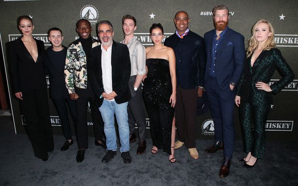 """Premiere Of Paramount Pictures' """"68 Whiskey"""" - Arrivals [event,social group,fashion,suit,formal wear,little black dress,whiskey,arrivals,gage golightly,cristina rodlo,sam keeley,nicholas coombe,l-r,paramount pictures,premiere,premiere,beth riesgraf,sam keeley,jeremy tardy,nicholas coombe,derek theler,cristina rodlo,68 whiskey,photography,getty images]"""