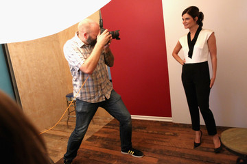 Betsy Brandt Behind The Scenes Of The Getty Images Portrait Studio Powered By Samsung Galaxy At 2015 Summer TCA's