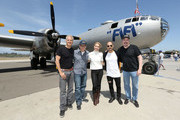 "(L-R) Actor Patrick Fabian, show creator Peter Gould, actress Rhea Seehorn, actor Michael Mando and show creator Vince Gilligan attend the 'Better Call Saul' meet and greet/autograph signing in support of ""FiFi"" on April 23, 2017 in Camarillo, California."