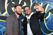 Designer Bobby Berk, and Evan Spector take a selfie during cocktail hour at Better Homes & Gardens Stylemaker 2019 at PUBLIC Hotel on September 19, 2019 in New York City.