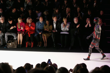 Bettina Cramer Front Row at the Riani Runway Show