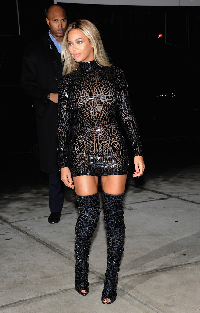 "Entertainer Beyonce attends a release party and screening for her new self-titled album ""Beyonce"" at the School of Visual Arts Theater on December 21, 2013 in New York City."