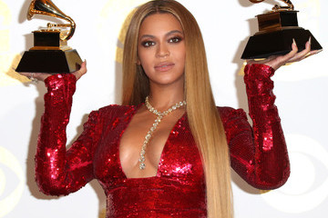 Beyonce Knowles The 59th GRAMMY Awards - Press Room