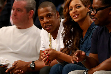 Beyonce Knowles Miami Heat v Brooklyn Nets