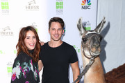 "Abigail Spencer (L) and Matt Lanter attend ""Beyond Hunger: West Meets East"" brought to you by NBC Universal and Heifer International at NBC Universal Lot on October 1, 2017 in Universal City, California."
