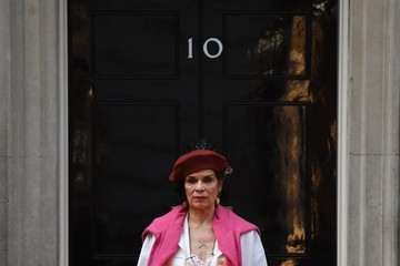 Bianca Jagger Bianca Jagger Delivers a Petition Urging the Government to Halt Arms Sales to Saudi Arabia and Free Saudi Blogger Raif Badawi