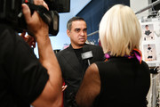 Designer Bibhu Mohapatra poses backstage for Bibhu Mohapatra during New York Fashion Week: The Shows at Gallery II at Spring Studios on February 9, 2018 in New York City.