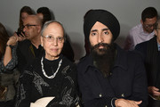 Designer Waris Ahluwalia (R) attends Bibhu Mohapatra Fashion Show during February 2017 - New York Fashion Week: The Shows at Gallery 3, Skylight Clarkson Sq on February 15, 2017 in New York City.