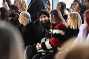 Waris Ahluwalia (center) attends the Bibhu Mohapatra front row during New York Fashion Week: The Shows at Gallery II at Spring Studios on February 9, 2018 in New York City.