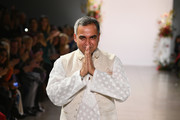 Designer Bibhu Mohapatra walks the runway for the Bibhu Mohapatra fashion show during New York Fashion Week: The Shows at Gallery II at Spring Studios on February 11, 2019 in New York City.