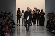 Designer Bibhu Mohapatra model walks the runway for the Bibhu Mohapatra fashion show during February 2020 - New York Fashion Week: The Shows at Gallery II at Spring Studios on February 11, 2020 in New York City.