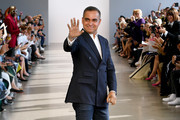 Bibhu Mohapatra walks the runway finale for the Bibhu Mohapatra runway show during New York Fashion Week: The Shows at Gallery II at Spring Studios on September 10, 2019 in New York City.