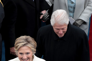 Bill Clinton Donald Trump Is Sworn In As 45th President Of The United States