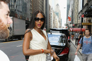 Naomi Campbell arrives to the Bill Cunningham Memorial  at Carnegie Hall on October 17, 2016 in New York City.
