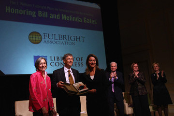 Ann Stock Bill And Melinda Gates Awarded Fulbright Prize For Int'l Understanding
