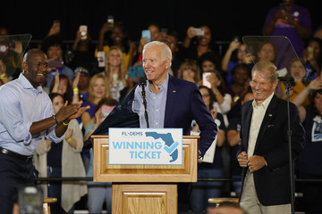 Bill Nelson Joe Biden Holds Campaign Rally With Florida Democratic Candidates In Tampa