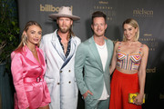 (L-R) Brittney Marie Cole, musicians Brian Kelley, Tyler Hubbard of Florida Georgia Line and Hayley Stommelattend as Billboard celebrates the Country Music industry with Country Power Players at WestEnd Kitchen and Bar at the Hutton Hotel on June 5, 2018 in Nashville, Tennessee.