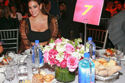 Model Ashley Graham attends Billboard's Women In Music 2018 with FIJI water at Pier 36 on December 6, 2018 in New York City.