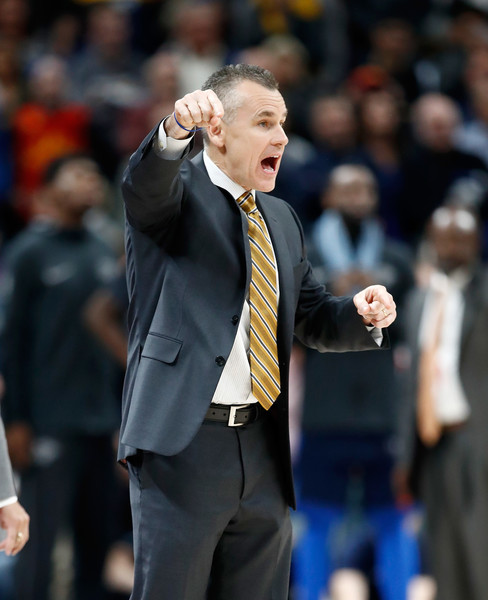 Oklahoma City Thunder v Indiana Pacers [oklahoma city thunder,indiana pacers,team,v,note,instructions,coach,suit,championship,gesture,manager,competition event,official,billy donovan,user,head coach,user]