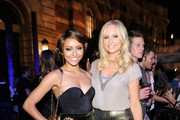 Kat Graham and Candice Accola attend the CW launch party presented by Bing at Warner Bros. Studios on September 10, 2011 in Burbank, California.