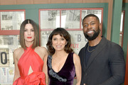 """(L-R) Actress Sandra Bullock, executive producer Susanne Bier, and (actor Trevante Rhodes attend the New York screening of """"Bird Box"""" at Alice Tully Hall, Lincoln Center on December 17, 2018 in New York City."""