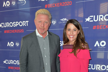 Birgit Noessing Eurosport Press Conference With Boris Becker In Munich