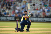 Bears batsman William Porterfield  hits out during the NatWest T20 Blast match between Birmingham Bears and Derbyshire Falcons at Edgbaston on July 3, 2015 in Birmingham, England.