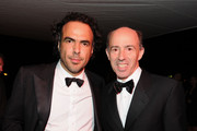 Director Alejandro Gonzalez Inarritu (L) and Producer Jon Kilik attend the Biutiful Party at the Majestic Beach during the 63rd Annual Cannes Film Festival on May 17, 2010 in Cannes, France.