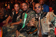 (L-R) Vin Rock, DJ Kay Gee, and Treach of Naughty By Nature attend 2019 Black Music Honors  at Cobb Energy Performing Arts Centre on September 05, 2019 in Atlanta, Georgia.