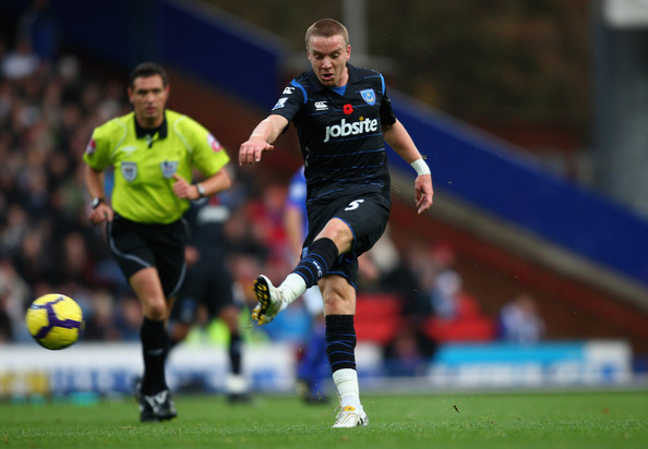 Jamie O'Hara of Portsmouth scores the first goal during the Barclays Premier League match between Blackburn Rovers and Portsmouth at Ewood Park on November 7, 2009 in Blackburn, England.