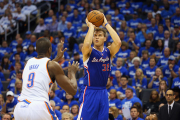 Blake Griffin Serge Ibaka Los Angeles Clippers v Oklahoma City Thunder - Game Two