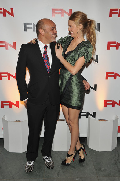 Blake Lively Designer Christian Louboutin and actress Blake Lively attend the 24th Annual Footwear News Achievement Awards at The Museum of Modern Art on November 30, 2010 in New York City.