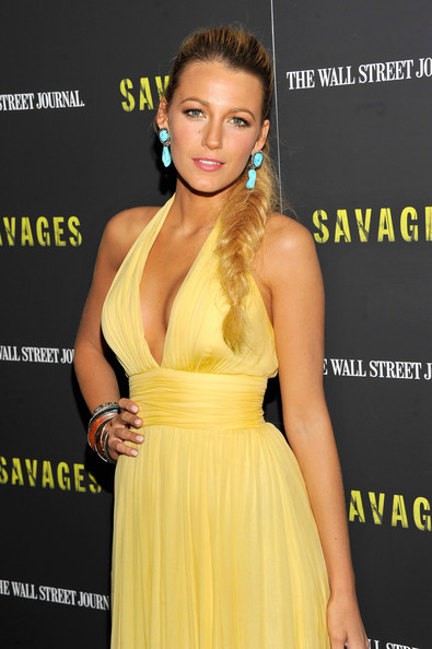 "Blake Lively - ""Savages"" New York Premiere - Inside Arrivals"