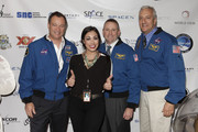 (L-R) Astronaut Michael Lopez-Alegria, Kellie Gerardi, astronaut Ken Ham, and astronaut Mike Massimino attend Blast Off: The Future of Spaceflight at The Explorers Club on May 1, 2014 in New York City.