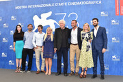 (L-R) Christa Campbell, guest, director Philippe Falardeau, producer Lady Monika Bacardi, Avi Lerner, Liev Schreiber, Naomi Watts and Andrea Iervolino attend a photocall for 'The Bleeder' during the 73rd Venice Film Festival at Palazzo del Casino on September 2, 2016 in Venice, Italy.