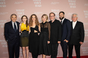 """(L-R) Robert Forster, Taissa Farmiga, Hilary Swank, Elizabeth Chomko, Albert Berger, Bill Holderman and Ron Yerxo attend Bleeker Street Presents Los Angeles Special Screening Of """"What They Had"""" at iPic Westwood on October 9, 2018 in Westwood, California."""