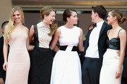 (L-R) Claire Julien, Taissa Farmiga, Katie Chang, Israel Broussard and Emma Watsonattend 'The Bling Ring' premiere during The 66th Annual Cannes Film Festival at the Palais des Festivals on May 16, 2013 in Cannes, France.