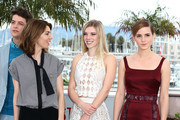 (L-R) Actor Israel Broussard, Director Sofia Coppola,  Actresses Claire Julien and Emma Watson attend  'The Bling Ring' photocall during the 66th Annual Cannes Film Festival at Palais des Festival on May 16, 2013 in Cannes, France.