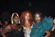 Actress Danielle Brooks, Lion Babe and Jeffrey C. Williams attend The Blonds fashion show during New York Fashion Week: The Shows at Gallery 1, Skylight Clarkson Sq on September 12, 2017 in New York City.