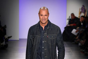 Nigel Barker walks the runway at The Blue Jacket Fashion Show during NYFW at Pier 59 Studios on February 05, 2020 in New York City.