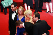 """(Left to Right) Producers Alex Orlovsky,Lynette Howell,actress Michelle Williams,actor Ryan Gosling, actress Faith Wladyka, director Derek Cianfrance,producer Jamie Patricof attend the """"Blue Valentine"""" Premiere at the Palais des Festivals during the 63rd Annual Cannes Film Festival on May 18, 2010 in Cannes, France."""