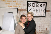 (L-R) Zak Cassar and Betty Who attend the Bobby Berk's A.R.T. Furniture Launch Event on November 05, 2019 in Los Angeles, California.