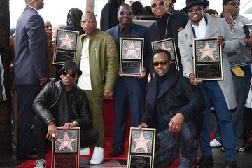Bobby Brown Ricky Bell New Edition Honored With Star On The Hollywood Walk Of Fame