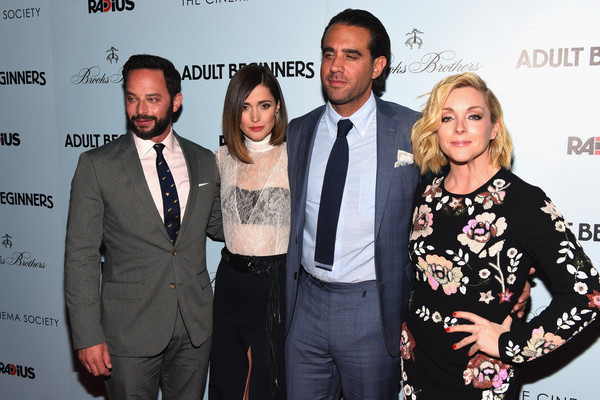 The New York Premiere of 'Adult Beginners' [adult beginners,event,premiere,fashion,award,carpet,jane krakowski,bobby cannavale,nick kroll,l-r,new york,radius with the cinema society brooks brothers host,the new york,premiere,premiere]