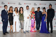 (L-R) Darin Brooks,Courtney Hope,Reign Edwards,Heather Tom,DonDiamont,Katherine Kelly Lang,Rome Flynn,Jacquelines MacInnes Wood and Pierson Fode attend the 'The Bold and The Beautiful' 30th Years anniversary during the 57th Monte Carlo TV Festival : Day 3 on June 18, 2017 in Monte-Carlo, Monaco.