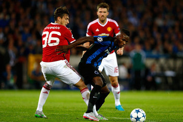 Boli Bolingoli Mbombo Club Brugge v Manchester United - UEFA Champions League: Qualifying Round Play Off Second Leg