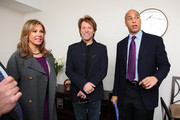 (L-R) HELP USA Chariman Maria Cuomo Cole, musican Jon Bon Jovi, and City of Newark Mayor Cory Booker attend the opening of affordable housing funded through Bon Jovi's JBJ Soul Foundation on December 8, 2009 in Newark, New Jersey.