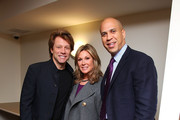 (L-R) Musican Jon Bon Jovi, HELP USA Chariman Maria Cuomo Cole and City of Newark Mayor Cory Booker attend the opening of affordable housing funded through Bon Jovi's JBJ Soul Foundation on December 8, 2009 in Newark, New Jersey.