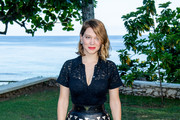 """Actress Léa Seydoux attends the """"Bond 25"""" Film Launch at Ian Fleming's Home """"GoldenEye"""", on April 25, 2019 in Montego Bay, Jamaica."""