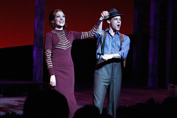 """""""Bonnie & Clyde"""" Broadway Opening Night - Arrivals & Curtain Call"""